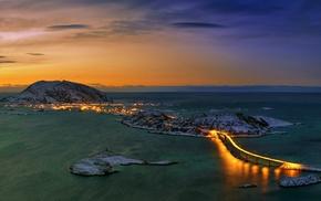 city, Troms Bridge, bridge, Norway