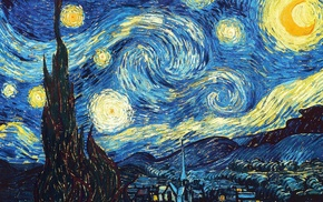 Vincent van Gogh, classy, The Starry Night, fantasy art