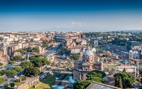 cityscape, Colosseum, Italy, cathedral, city, Rome