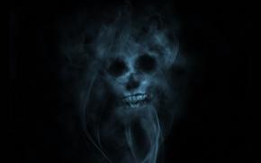 smoke, skull