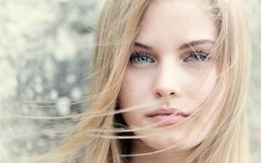 hair, girl, blonde, blue, eyes, face