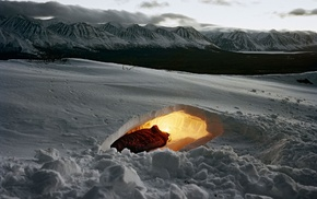 Canada, camping, survival, winter, Yukon