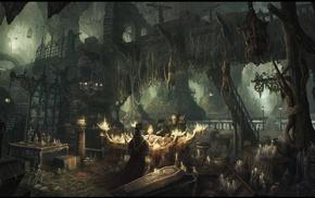horror, plague doctors, artwork, fantasy art