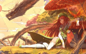 Touhou, dragon, anime girls, anime, Hong Meiling