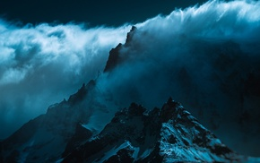 Chile, wind, atmosphere, Torres del Paine, nature, clouds