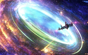 colorful, enigma, space art, spaceship, space, artwork