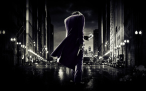 The Dark Knight, Batman, selective coloring, Joker