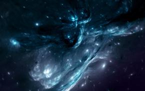 ice, space, CGI, blue