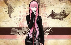 Vocaloid, pink hair, long hair, Megurine Luka