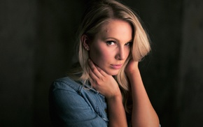 portrait, girl, Gia Lynn, blonde