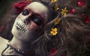 model, face, mask, makeup