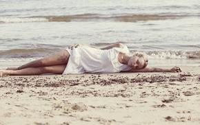 girl outdoors, model, beach