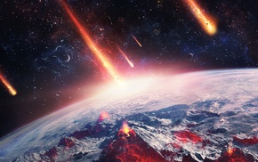 Earth, universe, space, meteors