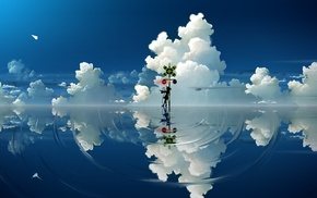 clouds, Touhou, Komeiji Koishi, paper planes