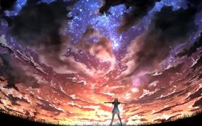 clouds, stars