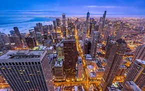 city, Chicago, winter