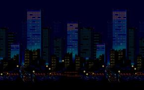 16, bit, city, pixel art, Streets of Rage, Sega