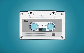 cassette, artwork, vintage, minimalism