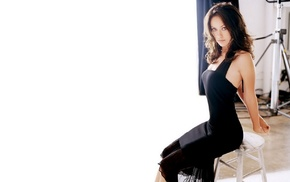 skinny, brunette, girl, black dress, actress, Olivia Wilde