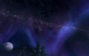 stars, moon, The Elder Scrolls V Skyrim