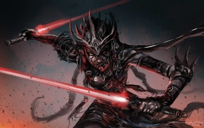 Star Wars, lightsaber, fantasy art, artwork, Sith