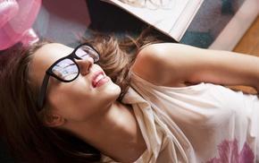 nerds, girl, glasses