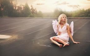 girl, blood, angel