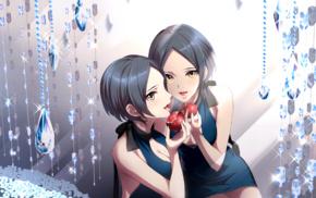 anime girls, anime, pomegranate, THE iDOLMSTER Cinderella Girls, short hair, Hayami Kanade
