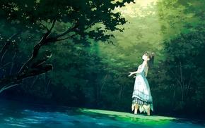 dress, Shizuku Kantoku, black hair, Afterschool of the 5th year, Kantoku, anime girls