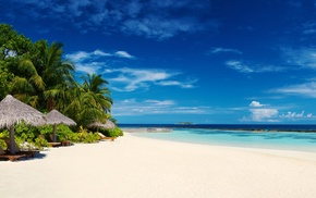 resort, tropical, Maldives, landscape, white, summer