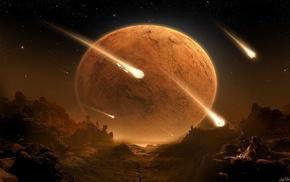 asteroid, space, CG render