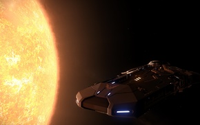 Elite Dangerous, science fiction, space, Sun, video games