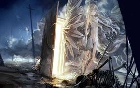 nude, fantasy art, angel