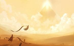 Journey game, fantasy art