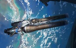 concept art, spaceship, artwork, digital art, space art, space
