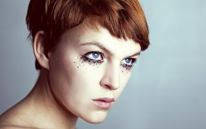 makeup, portrait, model, face, girl