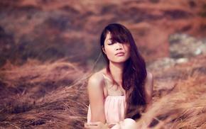 model, girl, girl outdoors, Asian