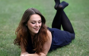 girl, model, pantyhose, smiling, Imogen Dyer