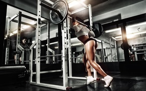 girl, weightlifting, working out, fitness model, sports