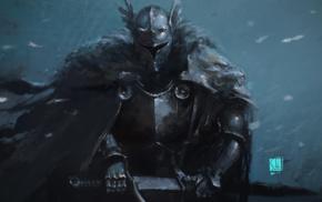 fantasy armor, fantasy art, knight, sword