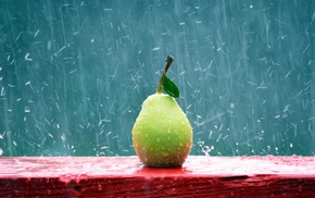 fruit, apples, rain