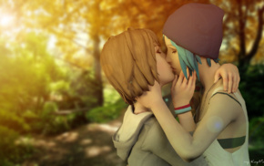 Max Caulfield, Life Is Strange, Chloe Price, kissing