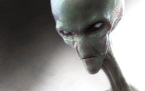 digital art, aliens, artwork