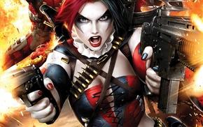 Batman, gun, Suicide Squad, Harley Quinn