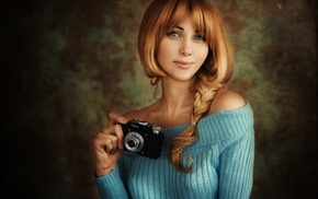 girl, camera