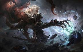 Scorpio, skull, fantasy art, digital art