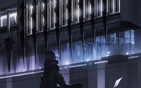 swd3e2, castle, dark, window, anime boys, building