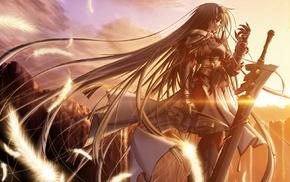 Primitive Link, anime girls, Sione, anime, sword