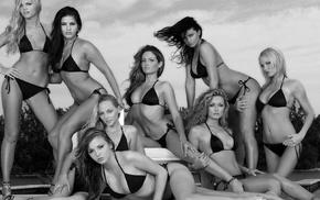 pornstar, model, monochrome, girl, Hanna Hilton, Sunny Leone