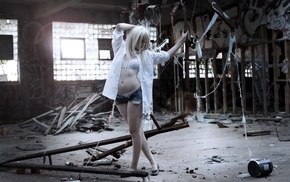 girl, ruin, model